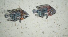 Load image into Gallery viewer, Gyotaku Fish Print 045 - Cichlid (22.25 x 13 in.)