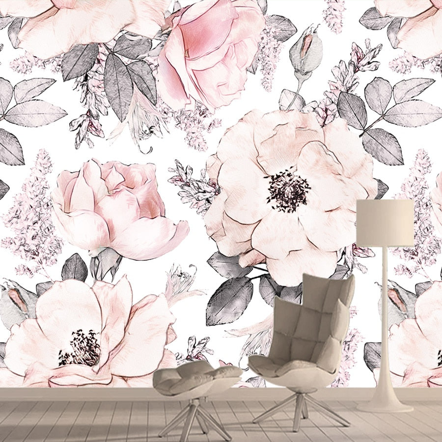Wisteria Soft Pink Floral Wallpaper All Things Baby And Kids