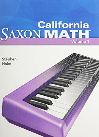 Saxon Math Intermediate 4: Student Edition Vol. 1 2008