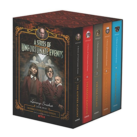 A Series Of Unfortunate Events #5-9 Netflix Tie-In Box Set