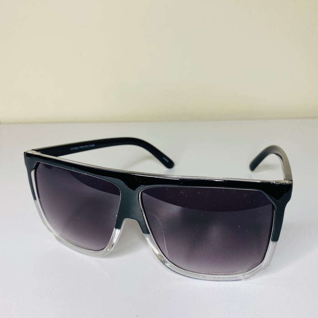 """La Brea"" Sunglasses- Black & Clear"