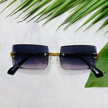 "Load image into Gallery viewer, ""Trip to Tulum"" Rimless Sunglasses- Black"