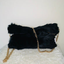 "Load image into Gallery viewer, ""Rolling in Fur"" Clutch- Black"