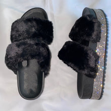 Load image into Gallery viewer, Fur slide sandals