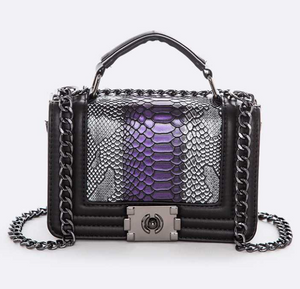 """Britt"" Shoulder Bag- Purple"