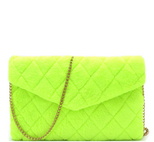Load image into Gallery viewer, neon yellow shoulder bag