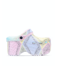 "Load image into Gallery viewer, ""Pastel Paisley"" Chunky Mule Clogs w/ Matching Face Mask"