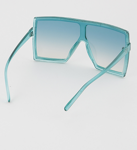 """Trip to Miami"" Oversized Shield Glasses"