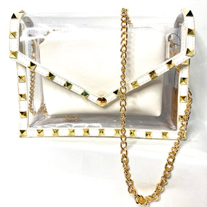 """Rwanda"" Clear Shoulder Bag- White"