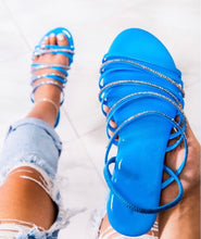 Load image into Gallery viewer, Blue Cape Robbin sandals