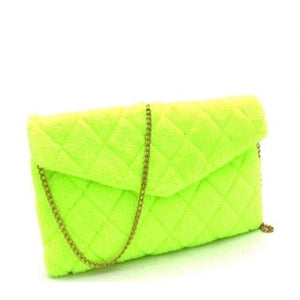 """Tennis"" Shoulder Bag- Neon Yellow"