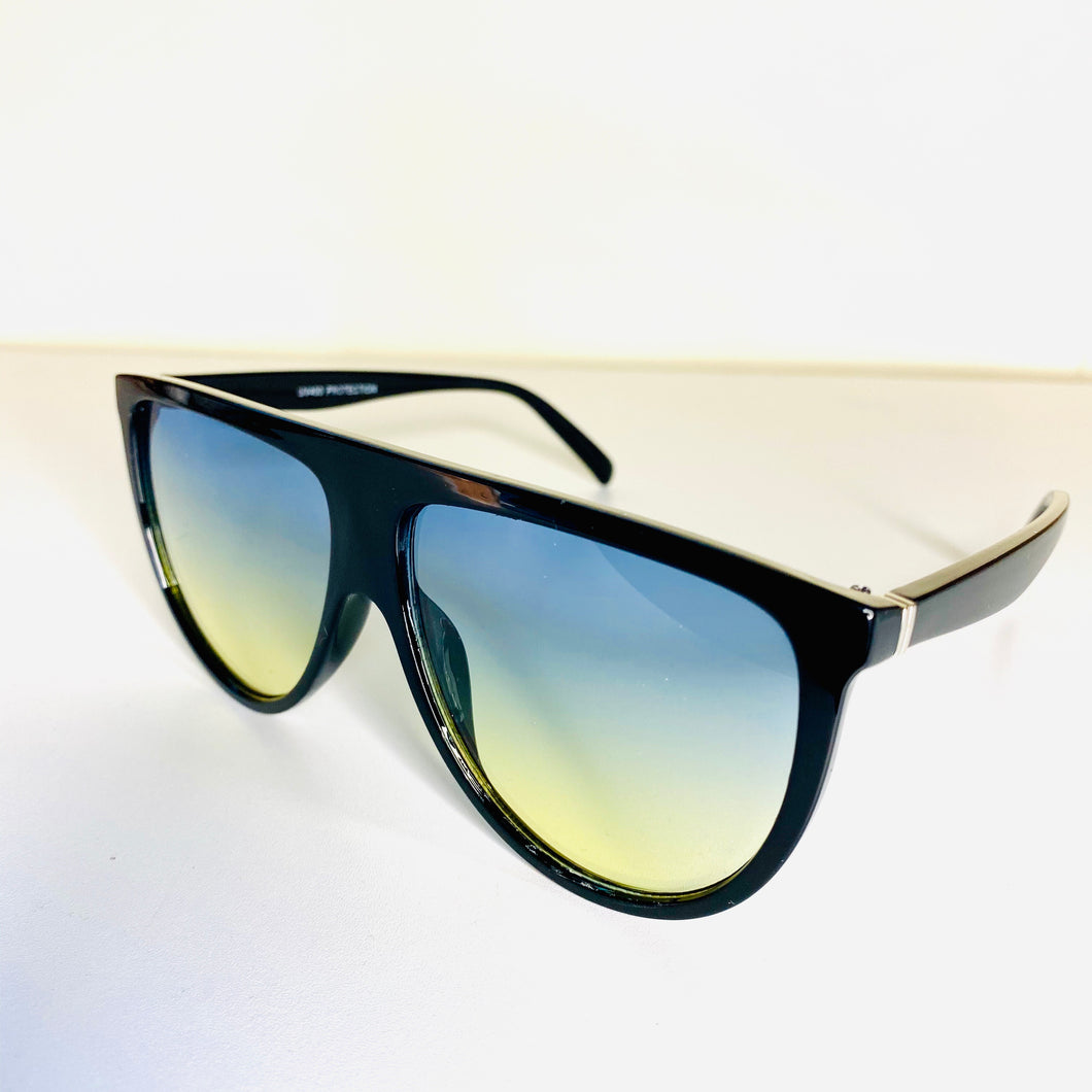 """Brandy"" Sunglasses-Blue/Yellow Tint"