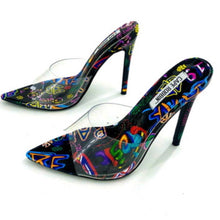 "Load image into Gallery viewer, ""L.A. Live"" Graffiti Heels"