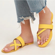 "Load image into Gallery viewer, ""Yellow Dream"" Sandals"
