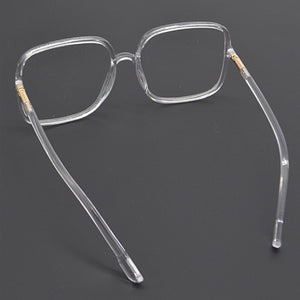"""Crystalline"" Clear Frame Glasses"