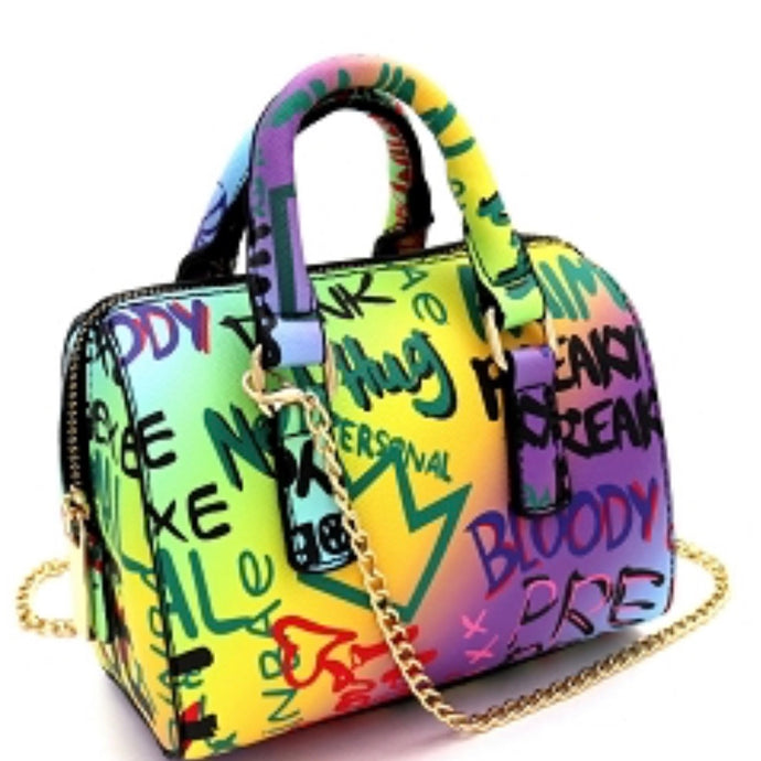 graffiti handbag purse
