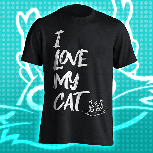 I Love My Cat T-Shirt