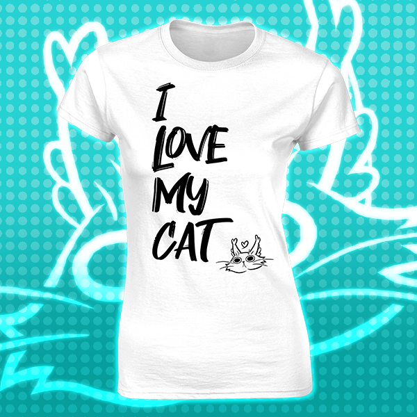 I Love My Cat Womens Favourite T-Shirt