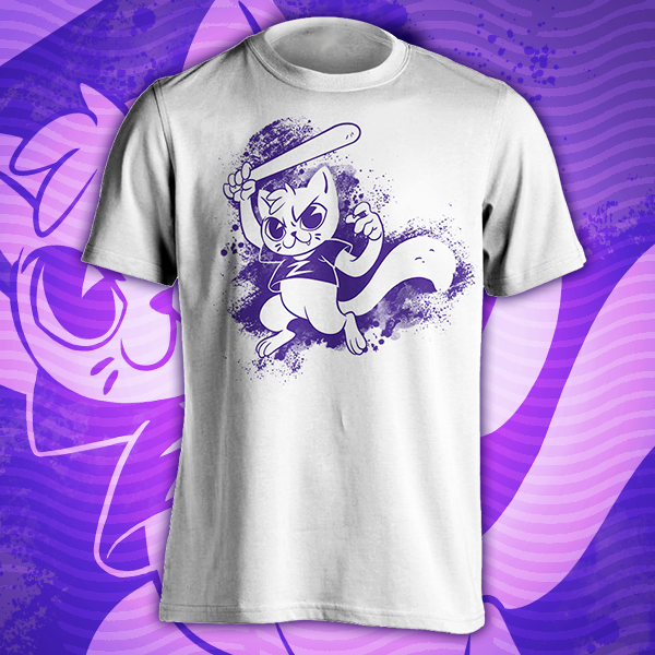 Zoey cat with a bat TTT-shirt