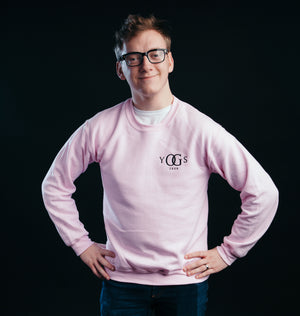 Yogscast Pink Embroidered Logo Sweatshirt (Pink)