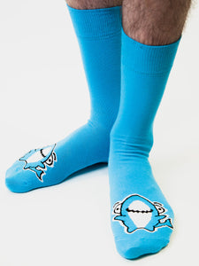 Sharky Toe Print Socks