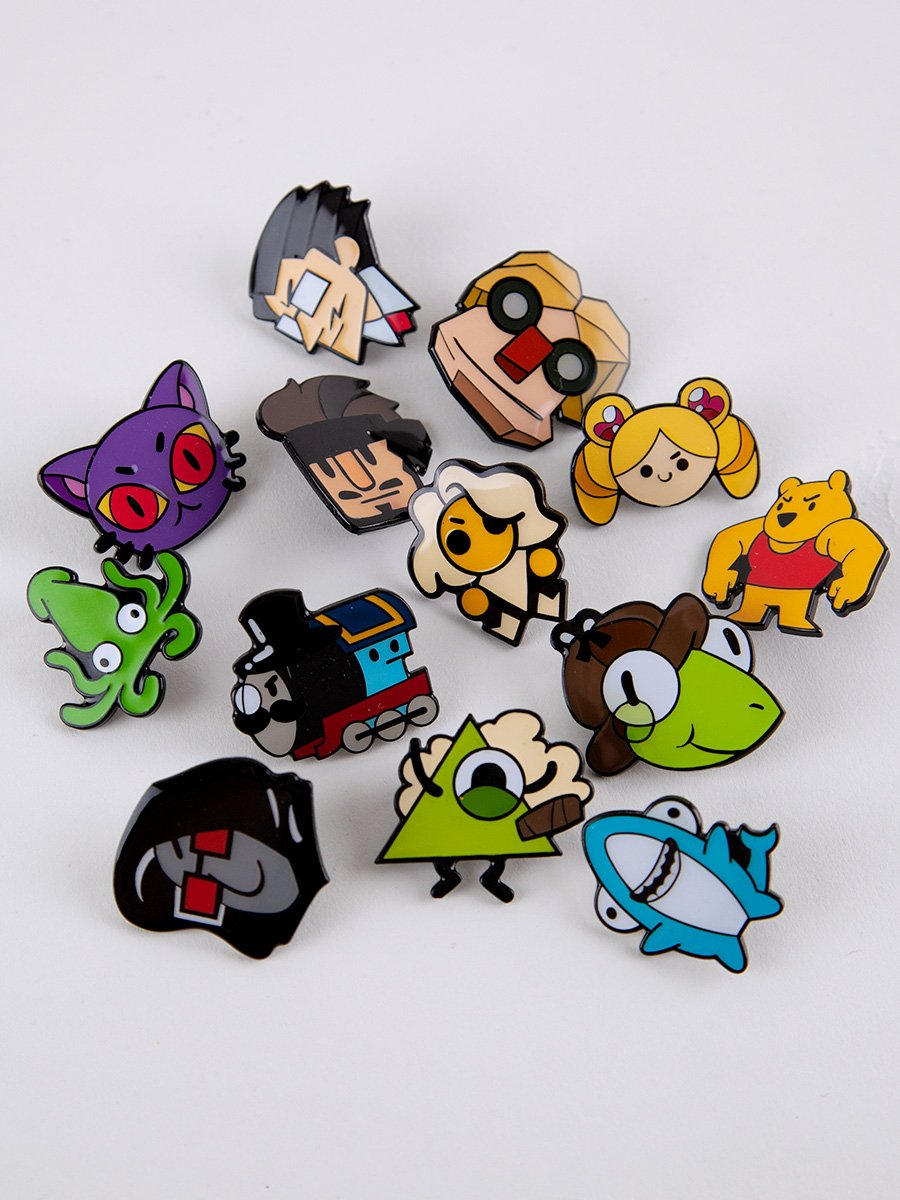 Angory Tom TTT Character Pin