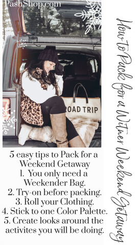 How to pack for a weekend getaway 5 easy tips