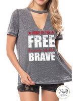America Vintage Tee - Land of the Free Home of the Brave