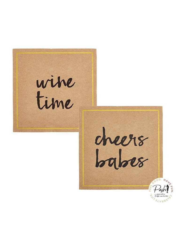 Cardboard Coasters Cheers Assortment