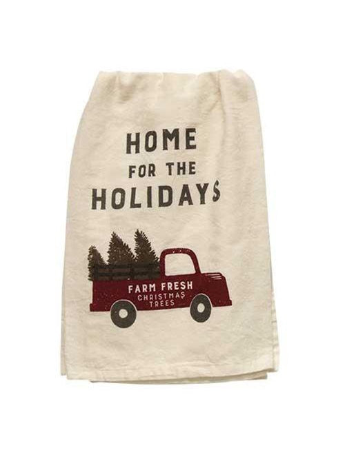 Home For Holidays - Old Truck Dish Towel
