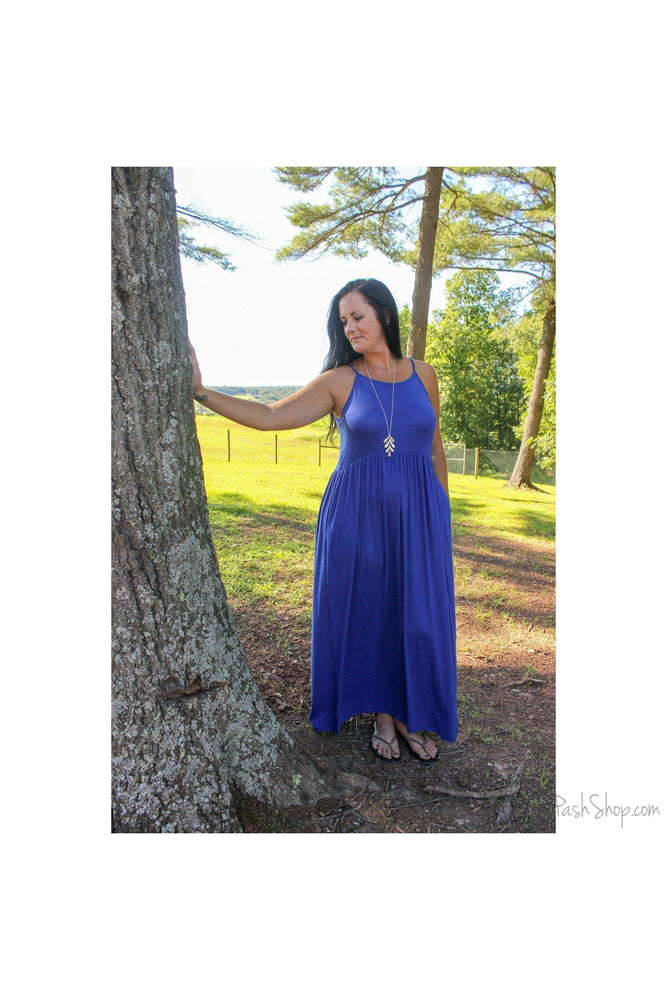 Strappy Royal Blue Maxi Dress