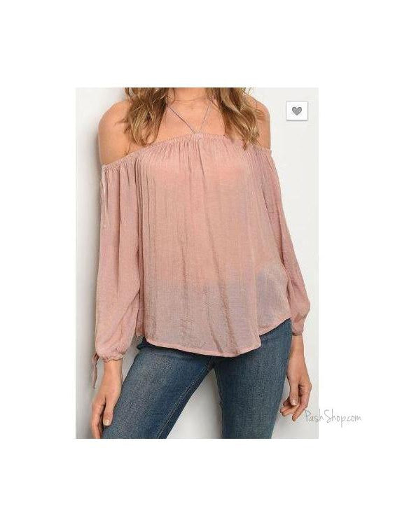 Blushing Babe Blush Chiffon Blouse