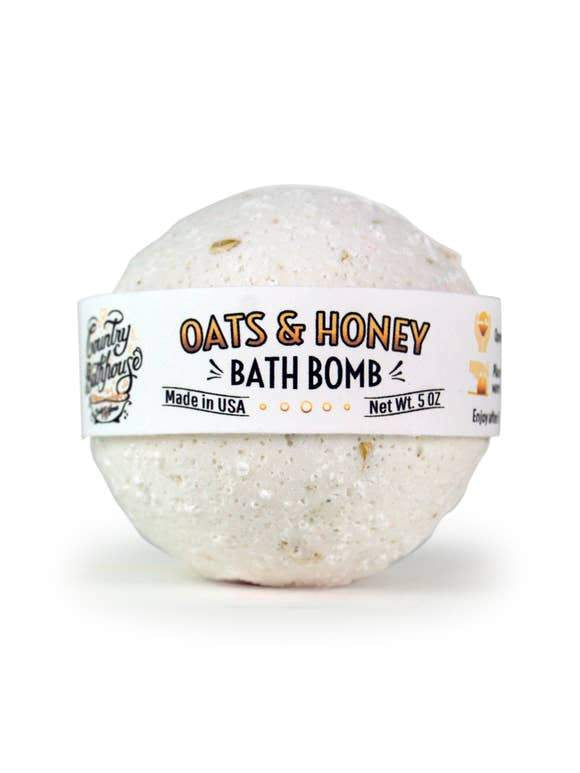 Large Bath Bomb - Oats and Honey