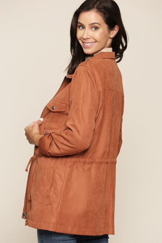 Out on the Town Peachy Keen Anorak Jacket