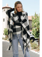 Everyday Classic Buffalo Plaid Poncho