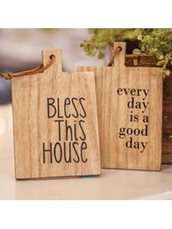Bless This House Mini Cutting Board Ornament