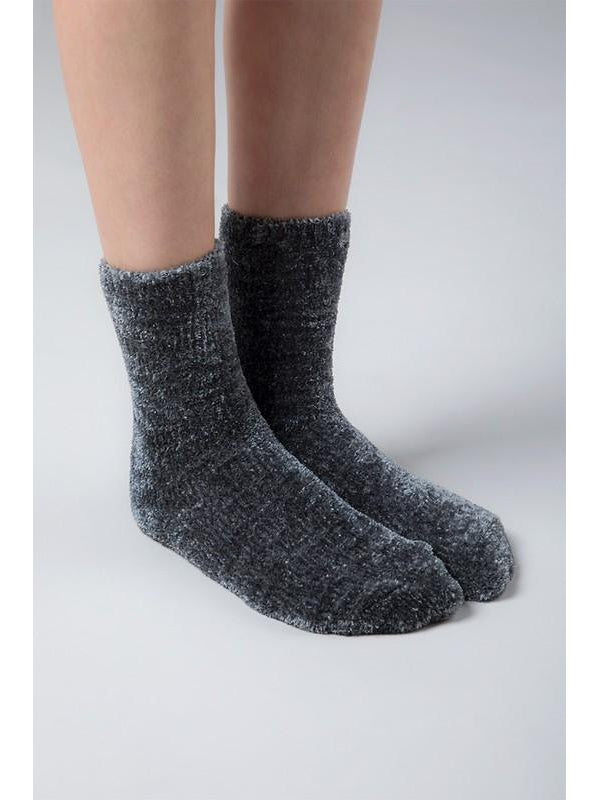 Luxury plush soft chenille socks - Charcoal