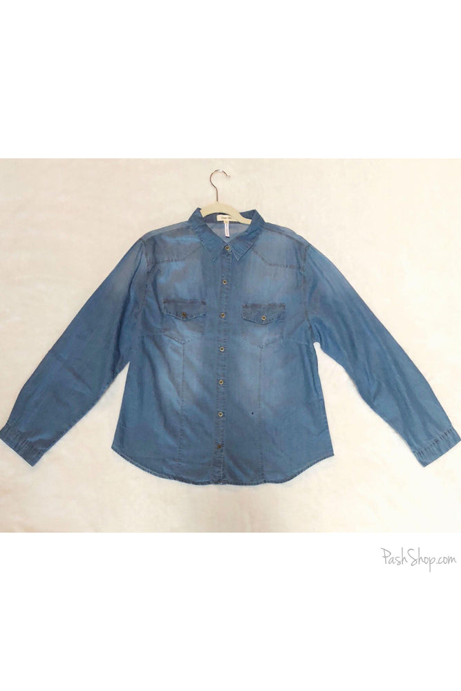 Curvy Denim Chambray Shirt