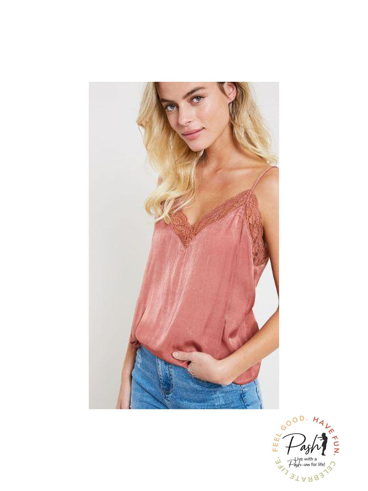 Ginger Lace Trim Camisole Top