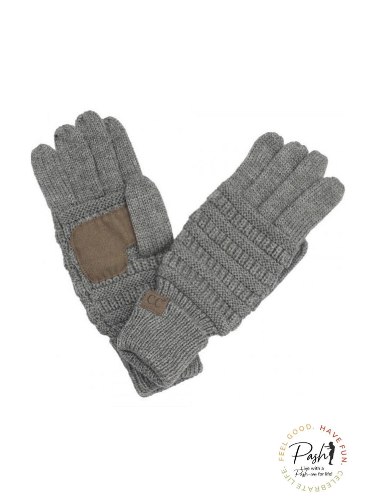 Cable knit C.C smart tip gloves