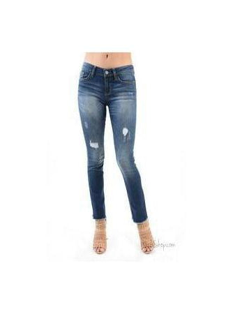 Judy Blue Destroyed Cuff Skinny Jeans