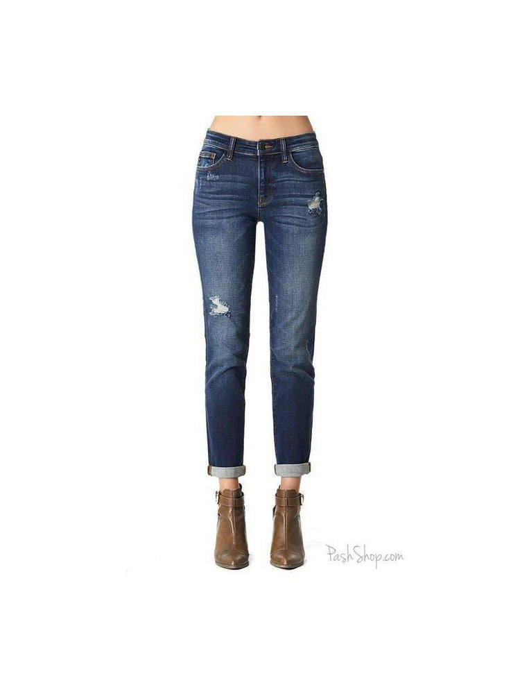 Judy Blue Tapered Slim Fit Jeans - Mom Jean