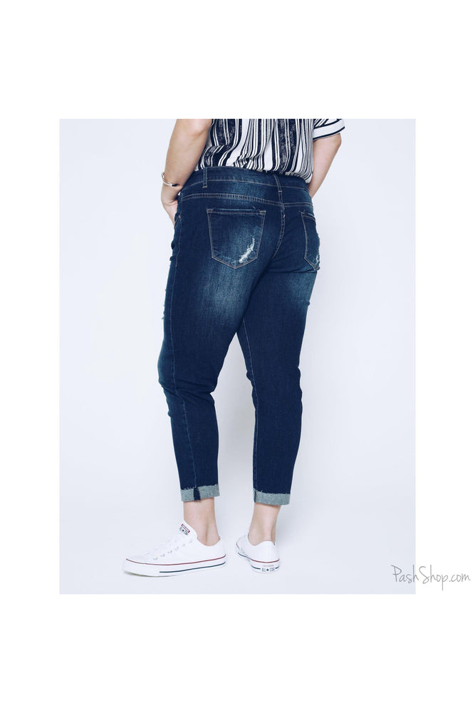 Size 3x - KAN CAN WESTON KENNEDY CAPRI JEAN- PLUS SIZE