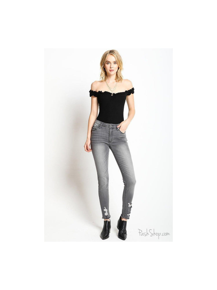Chelsea - Bailey KanCan Women's Super Skinny Grey Jeans