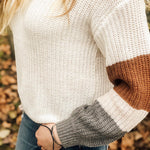 Enjoy the Little Things Colorblock Sleeve Sweater