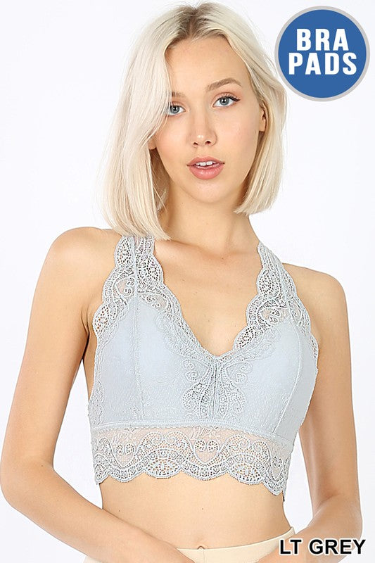 Lace Bralette Hourglass Back