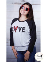 Sale The 'Love' Top - Red Buffalo Plaid Heart