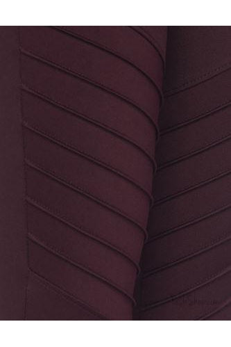 Activewear Maroon Moto Leggings