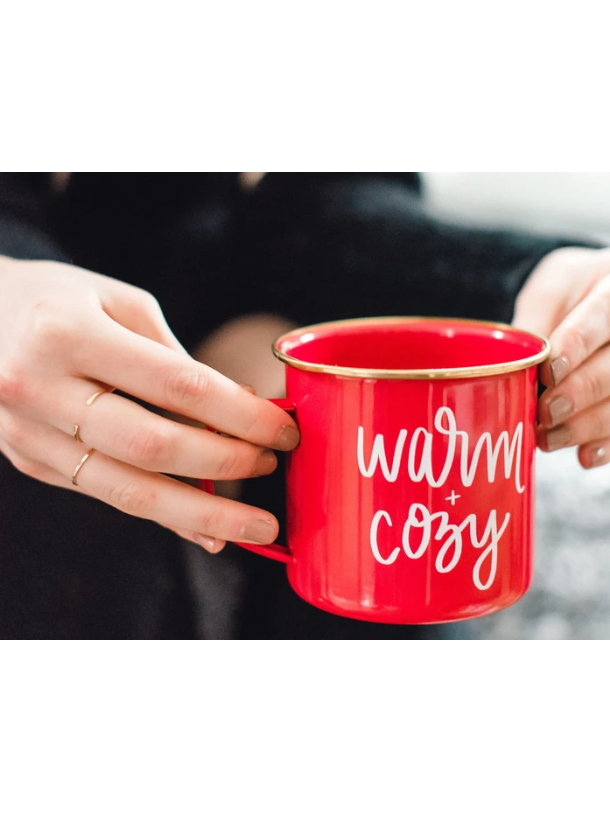 Warm and Cozy Red Campfire Coffee Mug