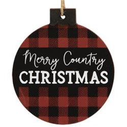 Buffalo Plaid Christmas Ornament